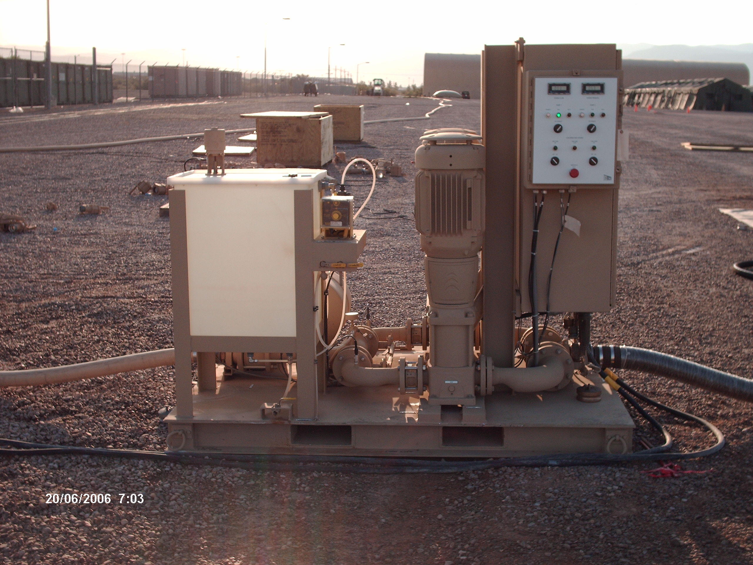 Dual Pumping Station in Desert